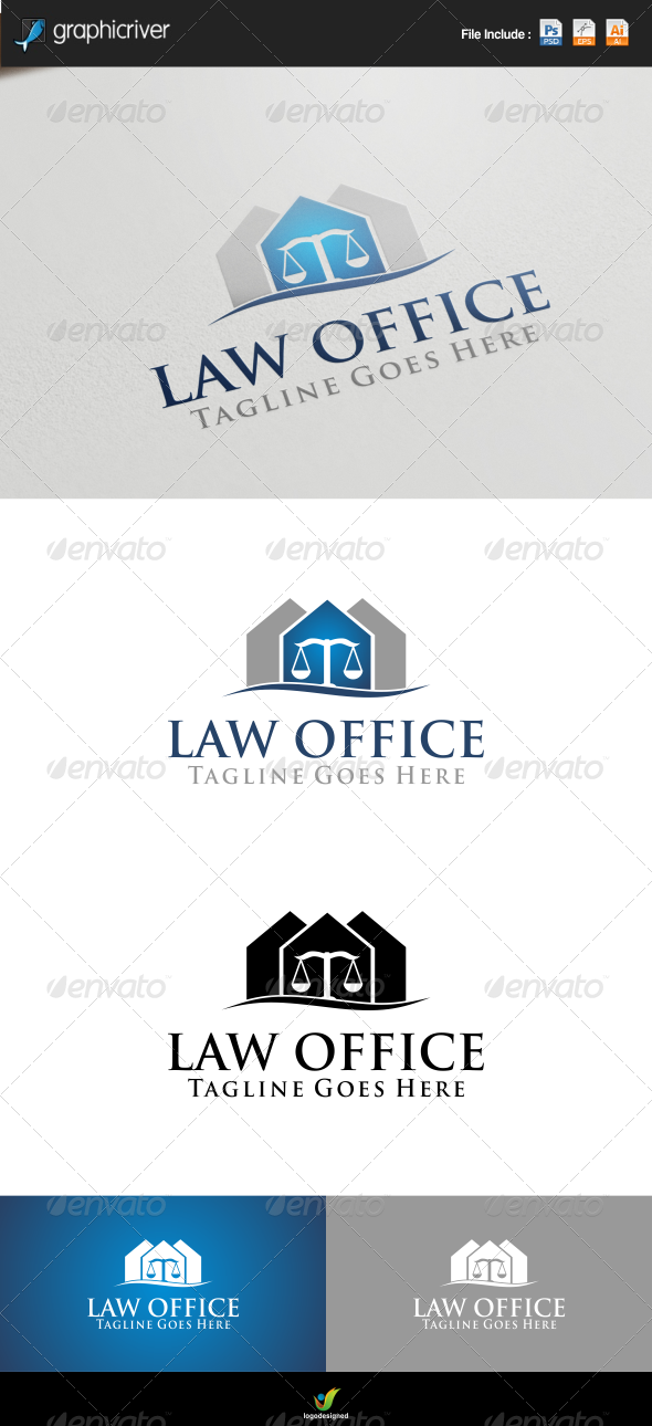 Law Office Logo Template - Symbols Logo Templates