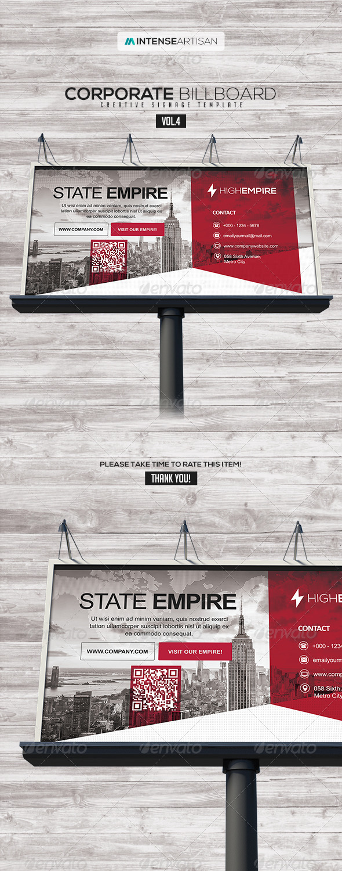 Billboard Template Signage Vol.4 - Signage Print Templates