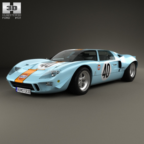 Ford GT40 1968 - 3DOcean Item for Sale