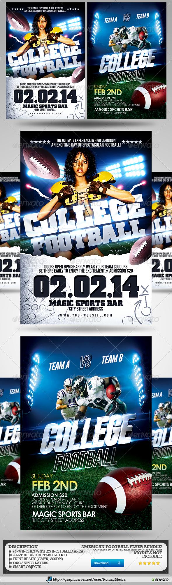 Super Football Flyer Bundle - Sports Events