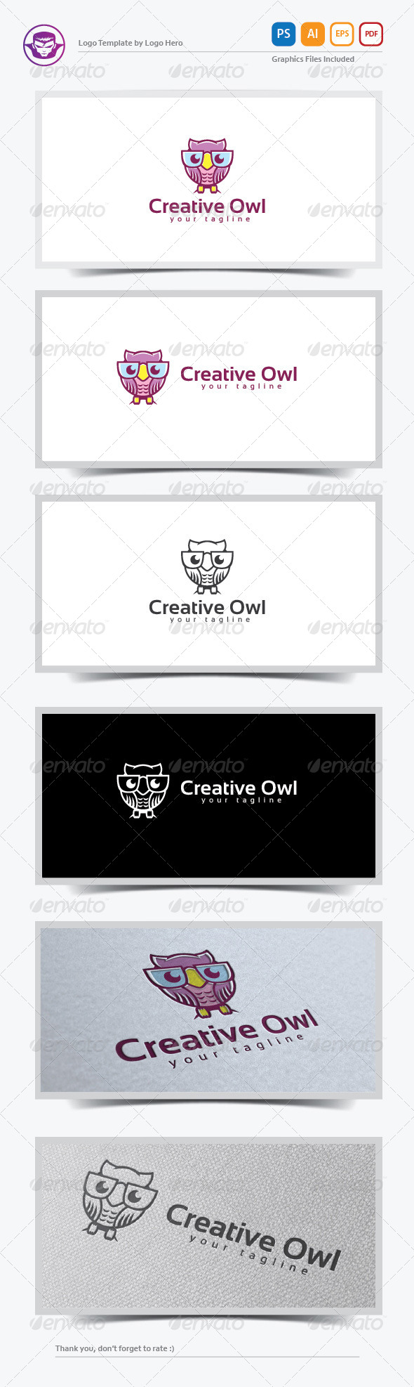 Creative Owl Logo Template - Animals Logo Templates