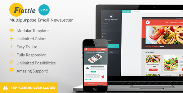 Flattie – Flat Responsive Email Template