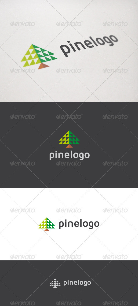 Pine Logo - Nature Logo Templates