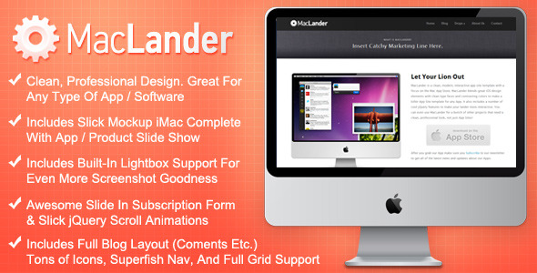 Free Download MacLander - Premium HTML App Site Template Nulled Latest Version