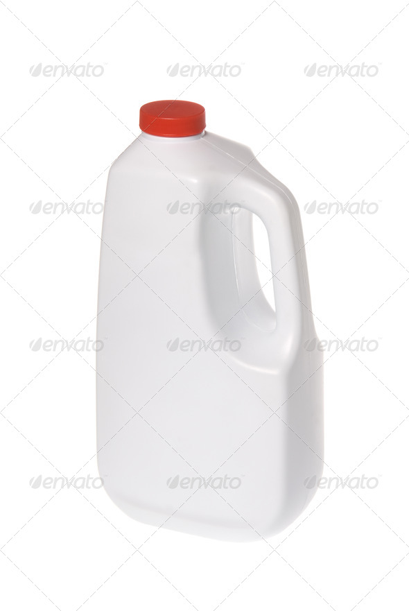 White chemical solution bottle - Stock Photo - Images