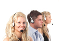 Three people in a call centre - PhotoDune Item for Sale