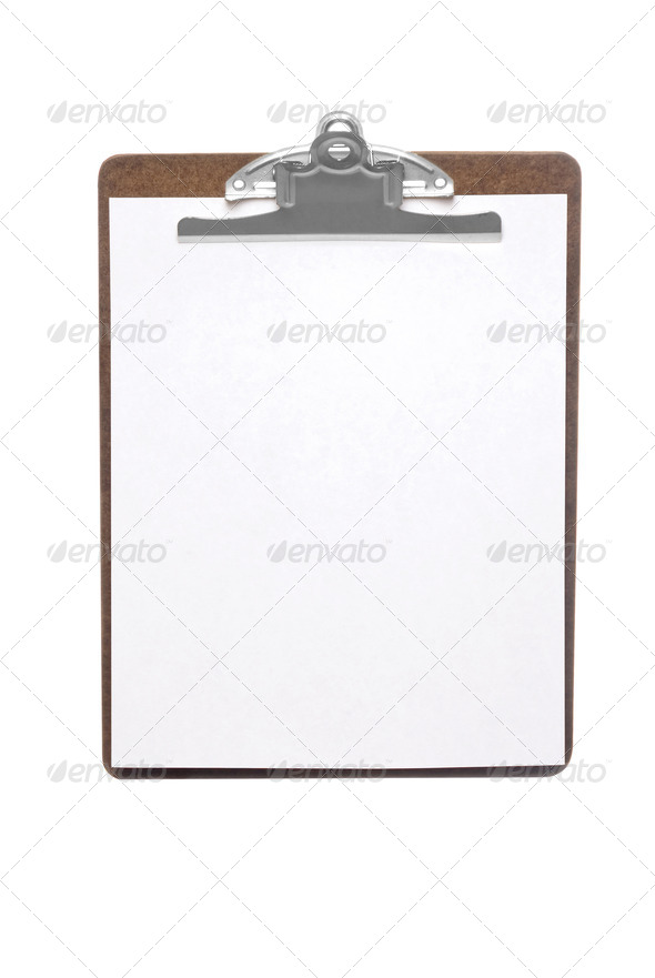 Clip board - Stock Photo - Images