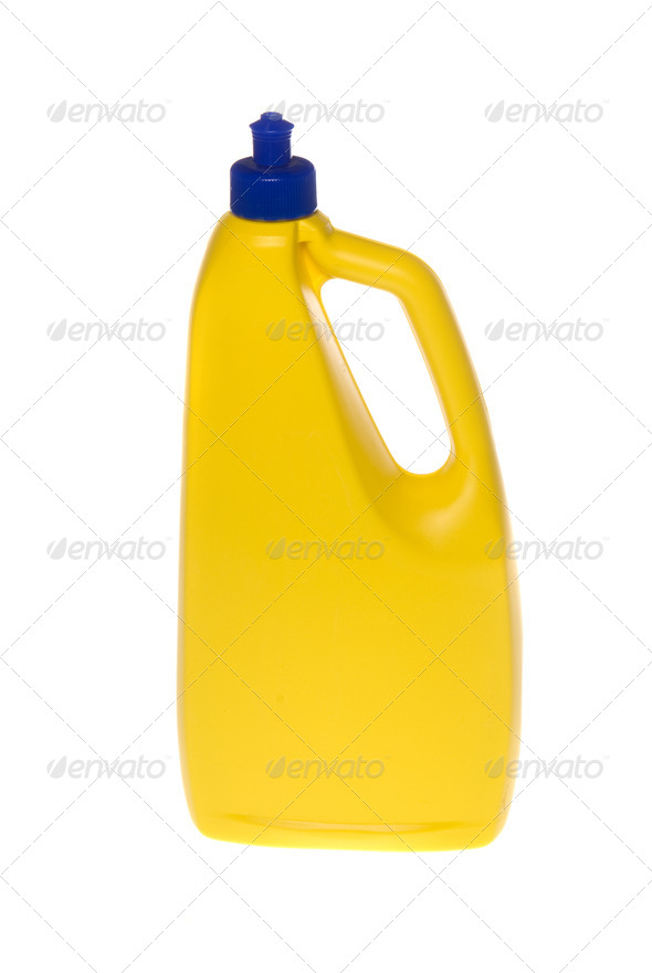 Plastic Yellow container for chemicals - Stock Photo - Images