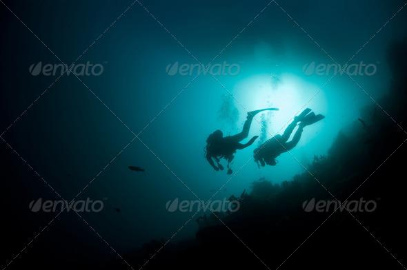 Scuba divers - Stock Photo - Images