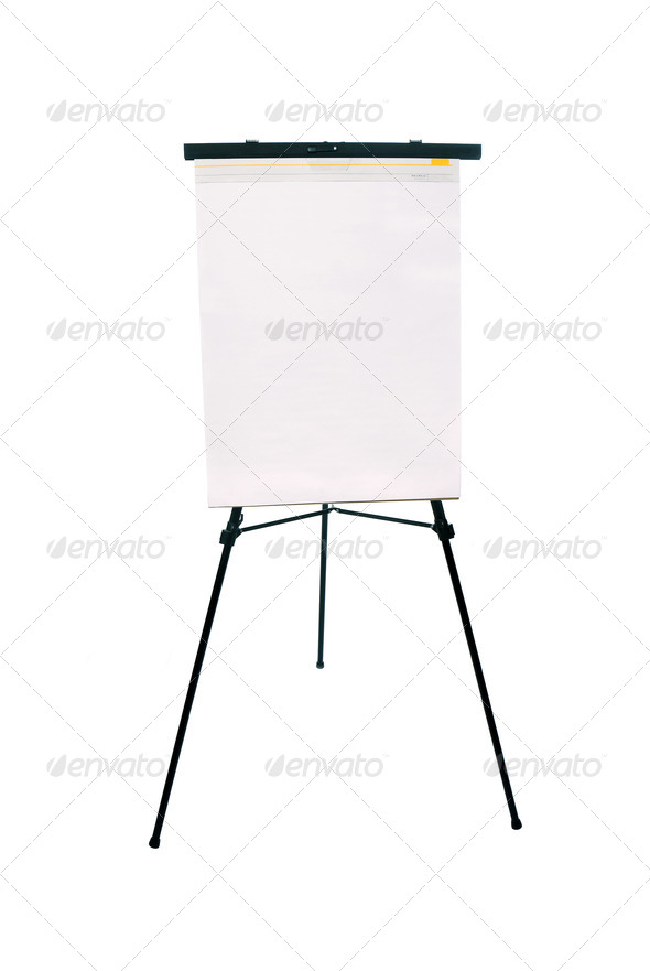 Flip chart pad and easel - Stock Photo - Images