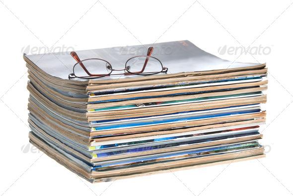 Old magazines - Stock Photo - Images