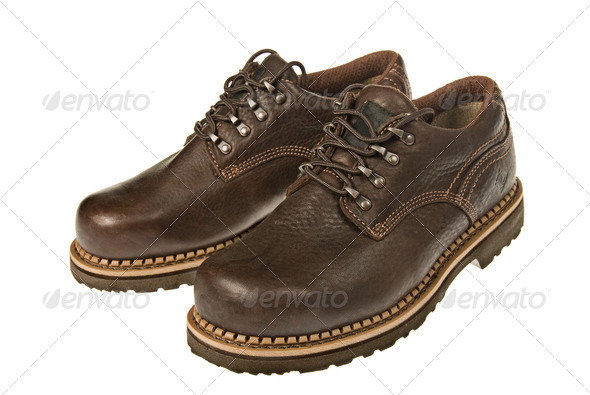 Steel toed shoes - Stock Photo - Images