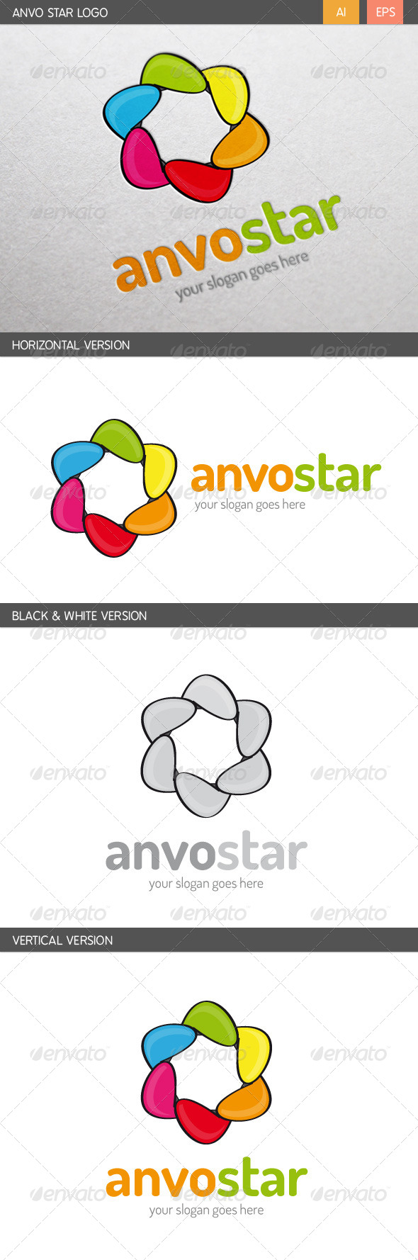 Anvo Star Logo - Abstract Logo Templates