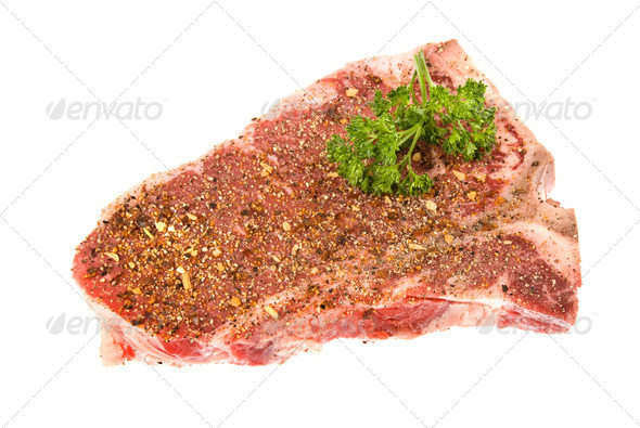 Seasoned steak - Stock Photo - Images