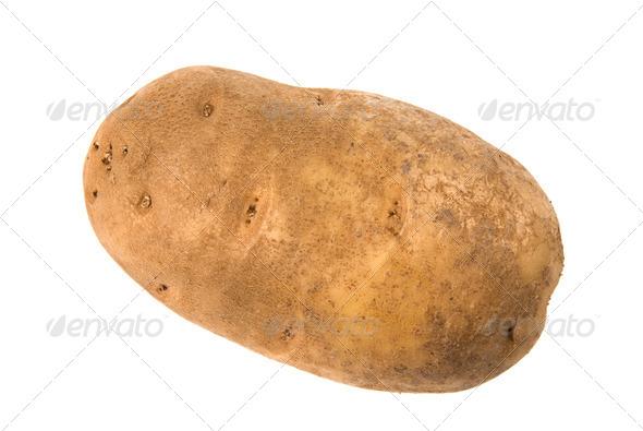 Isolated potato - Stock Photo - Images