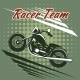 Classic Motorcycle Race Team Design - GraphicRiver Item for Sale