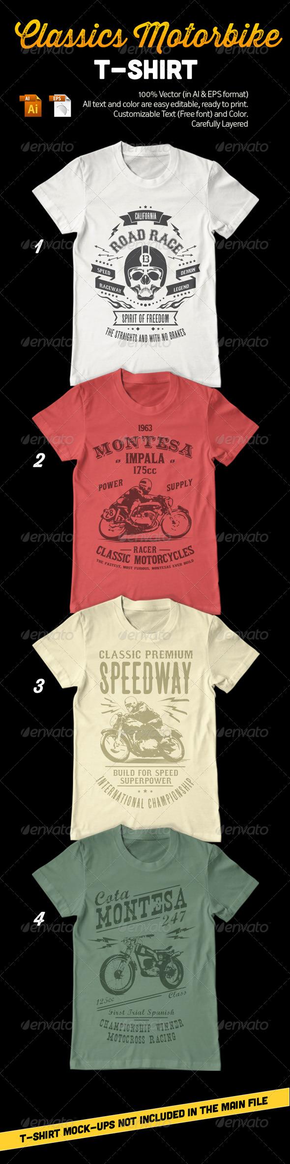 Classic Motorbike T-Shirt - T-Shirts