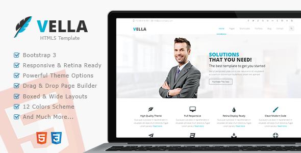 Vella – Premium Multipurpose Responsive Template