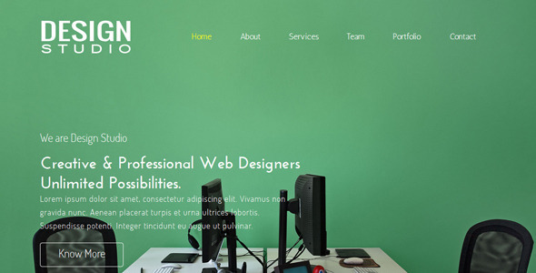 Design Studio One Page Muse Template