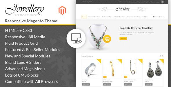 Jewellery - Magento Responsive Template - Magento eCommerce