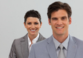 Happy Business associates standing in a line - PhotoDune Item for Sale