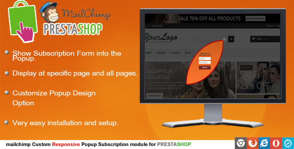 Prestashop Mailchimp Subscription - CodeCanyon Item for Sale