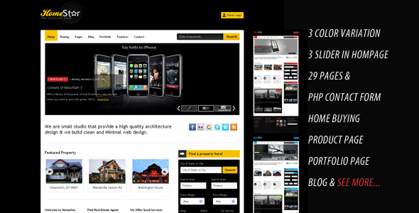 Free Download Home Star - Real Estate & Blog Business Template Nulled Latest Version