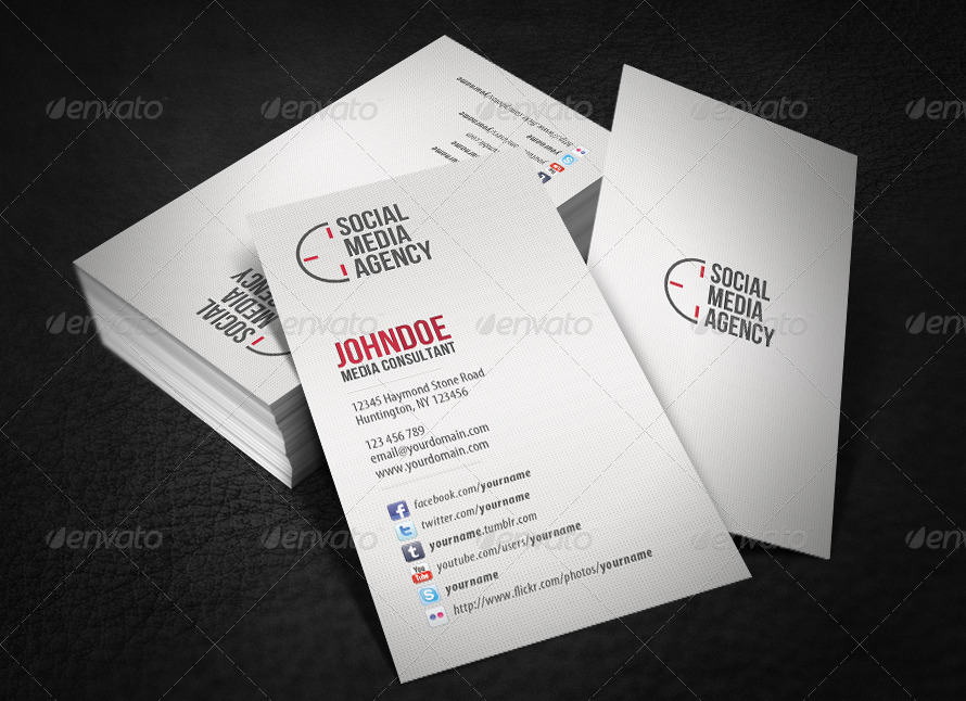Social Media Business Card by glenngoh | GraphicRiver