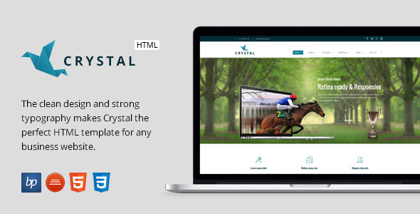 Crystal – Responsive Business HTML5 Template