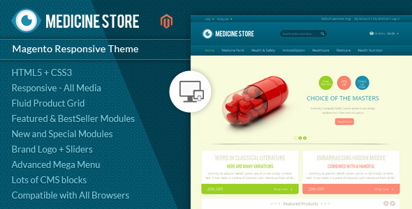 Image of Medicine - Pharmacy Magento Theme