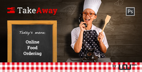 TakeAway – Online Food Ordering (PSD)