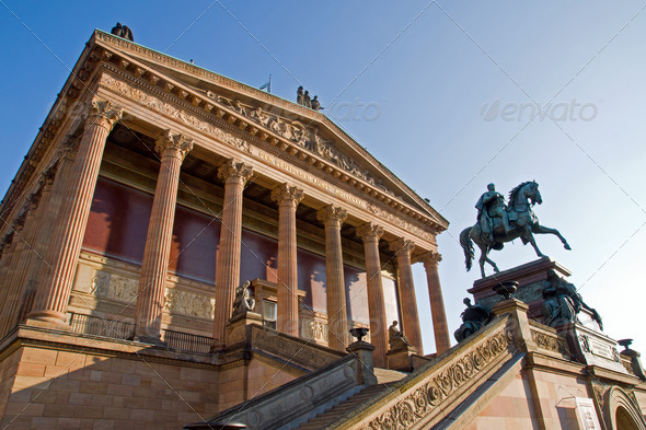 Berlins Old National Gallery - Stock Photo - Images