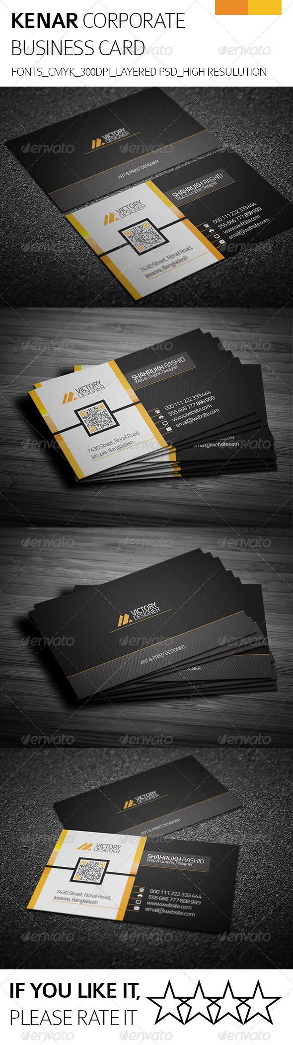 Kenar & Corporate Business Card - Corporate Business Cards