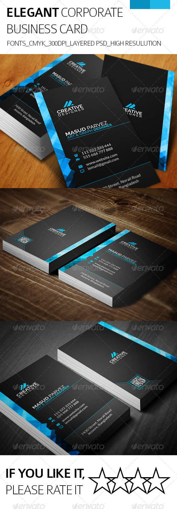 Elegant & Corporate Business Card - Corporate Business Cards