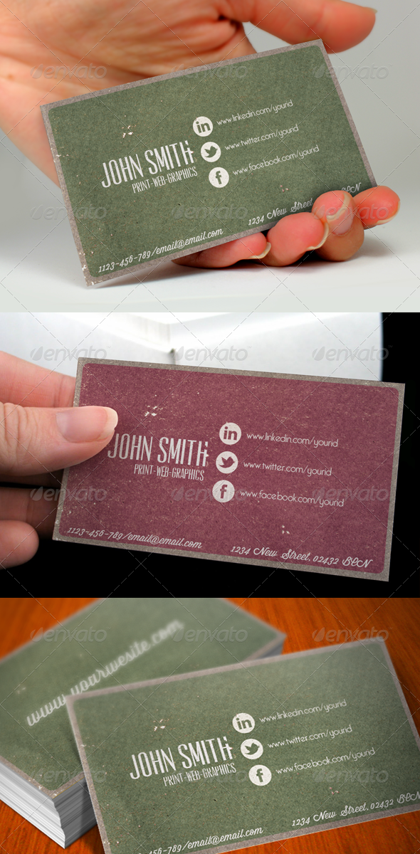 Social Media Vintage Business Card by Nyz | GraphicRiver