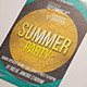 Summer Party Flyer Template Design - GraphicRiver Item for Sale