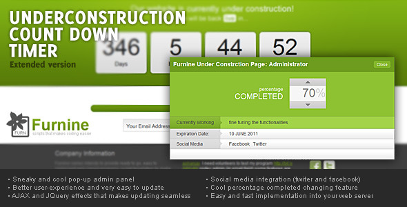 Under construction count-down, Extended version nulled