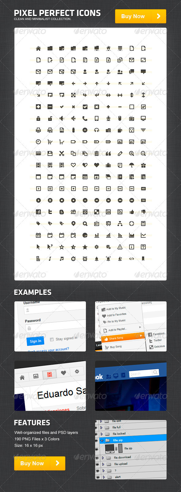 Pixel Perfect Icons - Web Icons