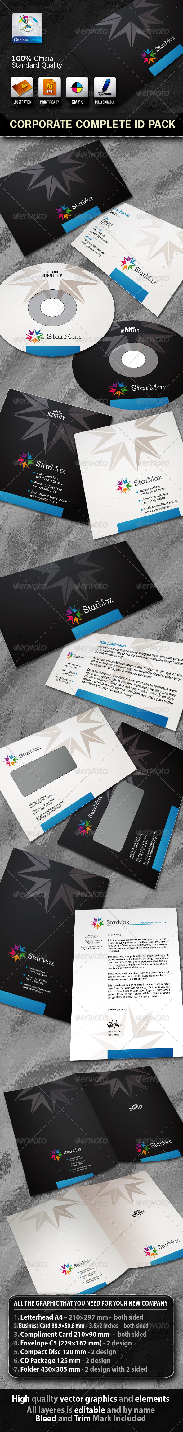 StarMax Business Corporate ID Pack With Logo - Stationery Print Templates