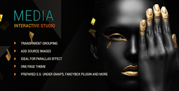 Media One Page Parallax Template By Kulstudio Themeforest