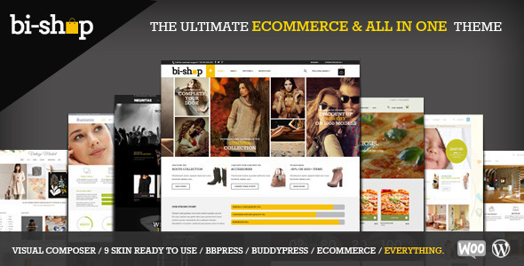 Bi-Shop All In One: Ecommerce & Corporate theme - WooCommerce eCommerce