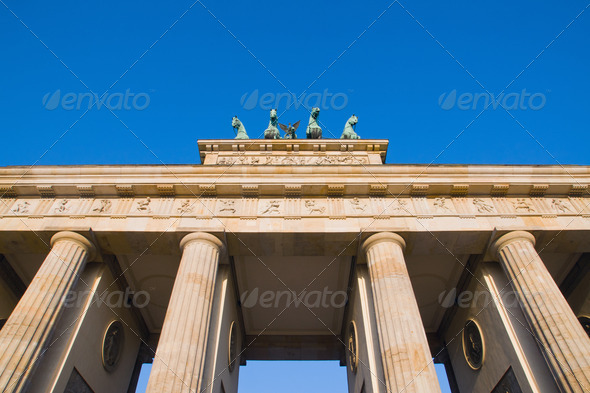 Detail of the Brandenburger Tor - Stock Photo - Images