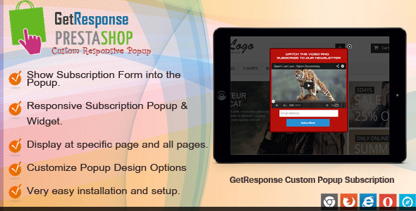 Prestashop GetResponse Subscription - CodeCanyon Item for Sale