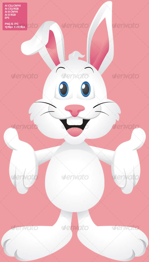 Easter Bunny Rabbit - Animals Characters