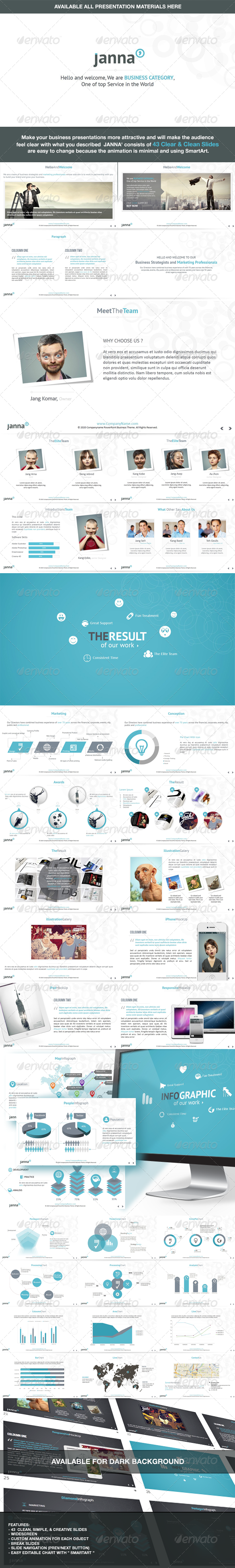 Janna - Clear & Clean Keynote Template - Business Keynote Templates