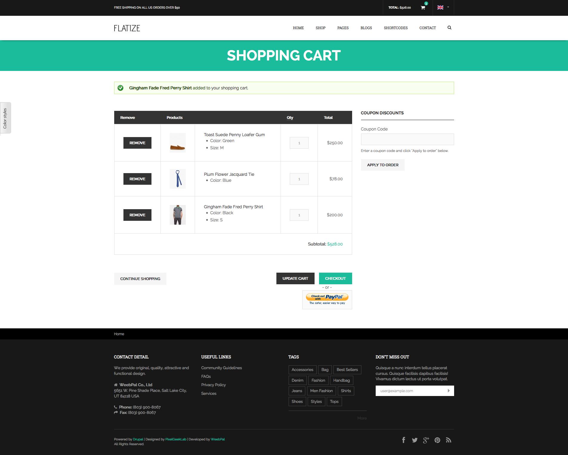 drupal shopping cart themes free