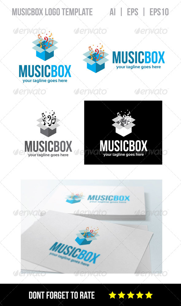 Music Box Logo Template