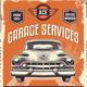 Vintage Sign Advertising Poster for Garage Service - GraphicRiver Item for Sale