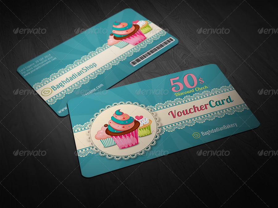 Business cards cakes templates free gallery card design and card cake shop voucher gift card template by owpictures graphicriver cake business cards templates free yelopaper Images