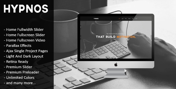 Hypnos - Responsive Retina Ready HTML5 Template - Creative Site Templates